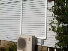 Heat pump with two inside units