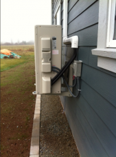 Heat Pump on Wall Bracket
